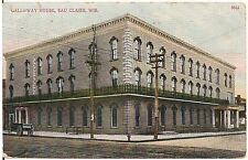 Galloway House in Eau Claire WI Postcard 1911