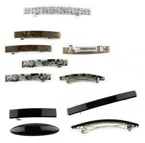 Small Barrette Hair Clips Slide Auto Clip French Hair Clasp Rectangle Buckle