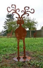 RUDOLPH RENTIER Rudi Elch Rost Edelrost Metall Rostfigur Figur Platte 160 cm