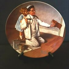 """Norman Rockwell Collector Plate """"The Painter"""" #E3531, Knowles China"""