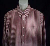 Dockers Tan burgundy red long sleeve wrinkle free stain defender shirt men's XXL