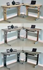 WestWood Morden L-Shaped Corner Computer Desk PC Table Home Office Study CD11