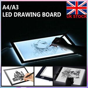 LED Drawing Tracing Board Light Pad Slim Tattoo Light Box Pad Art Craft A3 A4