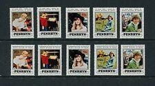 LADY DIANA/WILLIAM - Penryhn - 1982 set of 8- (SC 2000A&B-204A&B)- MNH- C265