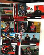 LOT OF 10 DIFFERENT  JEFF GORDAN 2009 PRESS PASS RACE CARDS # 48