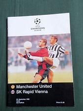 MANCHESTER UNITED vs SK RAPID VIENNA - EUROPEAN CHAMPIONS LEAGUE 1996