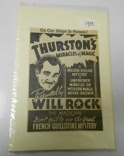 1939 THURSTON'S Miracles of Magic Magician French Guillotine CLIPPING Ad 4x6