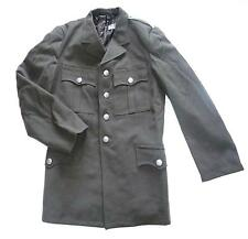 MENS VINTAGE GERMAN MILITARY PEA COAT Gents heavy cotton army trench jacket Grey