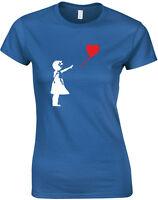 Banksy Balloon Girl Slogan Ladies Printed T-Shirt Casual Cotton Women Tee Shirts