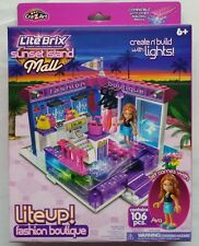 Cra-Z-Art LITE BRIX SUNSET ISLAND MALL - FASHION BOUTIQUE, NEW IN BOX Item 35756