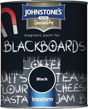Johnstone's Speciality Magnetic Blackboard Paint Black for Boards Furnitures etc