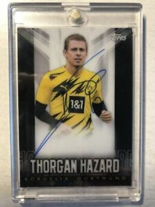 Topps Chrome Bvb Transcendent 2020/21 Thorgan Hazard Black Autografata 08/15