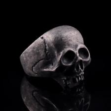 Anillo De Acero Inoxidable Calavera Cráneo Gótico Horror Fiesta Anillo Halloween