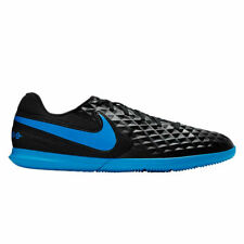 Nike Tiempo Legend VIII Club Indoor Soccer Shoes Black / Blue US Mens 12