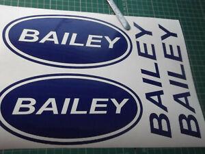 BAILEY  LARGE Vinyl Stickers large Caravan Camping  set x4