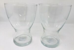 "Ikea Design Asa Gray Large Clear Glass Vase 8"" Tall"