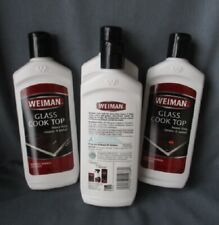 new WEIMAN Glass Cook Top heavy duty cleaner & polish 10 oz ~ Lot of 4