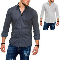 Antony Morato Herren Langarmhemd Klassische Businesshemd Freizeithemd Slim Fit