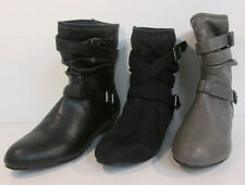 Flat (less than 0.5') Wedge Ankle Boots for Women
