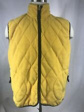 VINTAGE NAUTICA US CHALLENGE VEST JACKET FLEECE YELLOW SIZE M MADE IN USA