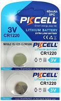 2 x CR1220 3V Lithium Knopfzelle 40 mAh ( 1 Blistercard a 2 Batterien)PKCELL