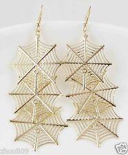 9k Yellow Gold Filled Elegant Crystal Rhinestone Ear Stud dangle Earrings e487