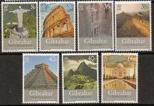 GIBRALTAR SG1279/85 2008 SEVEN WONDERS OF THE WORLD MNH