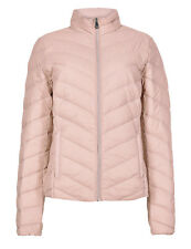 Ex Marks and Spencer Pink Lightweight Down & Feather Jacket Coat Size 8 - 24