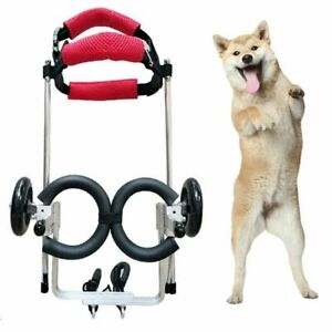 Pet Wheelchair Walk Cart Scooter Dog Weak Paralyzed Handicapped Hind Leg 2-Wheel