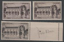 "FRANCE STAMP TIMBRE 610 "" CHATEAU CHENONCEAUX , 3 COULEURS "" NEUFS xx LUXE N967"