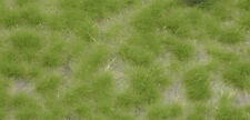 HO GRASS TUFTS - SPRING GREEN, LONG, suit model train, railway, dolls house