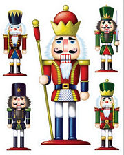 NUTCRACKER clings 5 big Christmas window/glass decoration holiday party decor