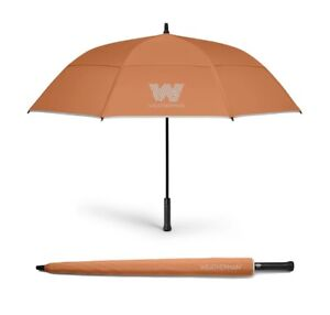 "Weatherman 62"" Golf Umbrella With PebbleBee Bluetooth Tracker -Orange"