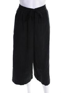 Standard James Perse  Womens Drawstring Waist Cropped Pants Black Size 3