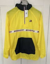 Tommy Hilfiger Water Repellent Windbreaker Quarter Zip Jacket Size M Pit 24 Inch