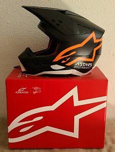 Alpinestars S-M5 SM5 Compass Offroad Motorcycle Helmet ECE Black Orange XL