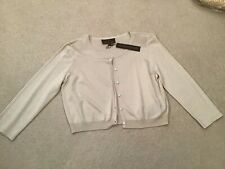 Fenn Wright Manson Cropped 3/4 Sleeve Cream Cardigan Size 16 New With Tags