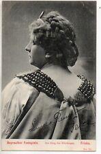 70282 Orig ca 1905 litho PC German Opera Theatre Bayreuth Luise Ressa as Fricka