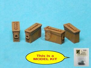 Special Ops 1/16 US M19A1 7.62mm Metal Closed Ammo Box Set (4 pcs w/Decal) 16006