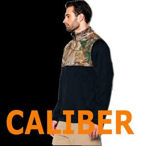 UNDER ARMOUR MENS UA CALIBER 1/4 ZIP LONG SLEEVE BLACK REALTREE SWEATSHIRT 2XL