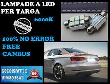 AUDI A4 B8 08-12 LUCI TARGA 3 LED SMD 36MM BIANCO GHIACCIO CON RESISTENZA CANBUS