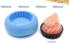 Mini Moule Silicone Base fond de tarte ou  cupcake  - fimo, porcelaine, cernit