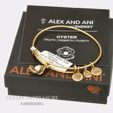 Authentic Alex and Ani Oyster Rafaelian Gold Charm Bangle