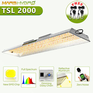 Mars Hydro TSL 2000W LED Grow Light Dimming Full Spectrum Veg Bloom Indoor Plant