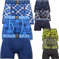 Mens Crosshatch 3 Pack Check Print Boxer Shorts Boxers Underwear Trunks Gift