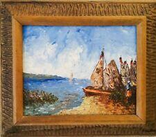 HAITIAN FINE ART PAINTING FAMOUS WESNER P. LOUIS IMPRESSIONISM SEASCAPE HAITI