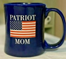 Patriot Mom Coffee Mug American Flag Large Handle Heavy Made in U.S.A.