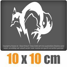 Fox Hound 10 x 10 cm JDM Decal Sticker Auto Car Weiß Scheibenaufkleber