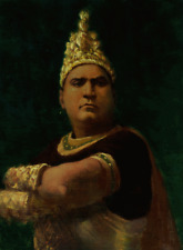 ENRICO CARUSO, TENOR - PORTRAIT BY ELIAS RIVERA  - ORIGINAL OIL PAINTING