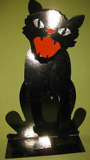 Antique 1930s Large 20 Inch Halloween Black Cat 3D Display Decoration